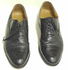 Mario Bruni Black Lace Up Oxford Italian Made Size 9 Dress Shoes