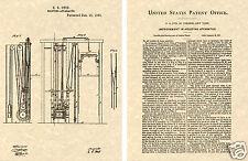US PATENT of the ELEVATOR READY TO FRAME!!! Elisiah Otis 1861 Art Print
