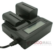 Dual Battery LCD Charger For Canon LP-E8 700D 650D 600D 550D T5i T4i T3i LED