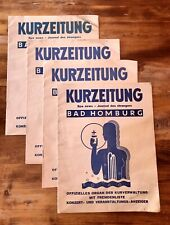 4 Kurzeitungen  Bad Homburg , Mai-August 1933