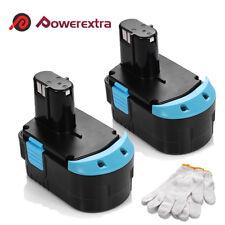 2 Pack 18V 2000mAh Battery for HITACHI EB1820L EB1820 EB1812S C 18DL EB1814SL