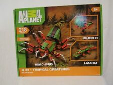 NEW ANIMAL PLANET 3 IN 1 TROPICAL CREATURES BUILDING BLOCKS 218 PIECES FREE SHIP