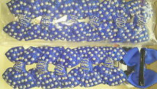 Joblot 12pcs Blue Bow Design Sparkly hairclips hairgrips NEW wholesale lot 28