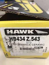 Hawk Performance Ceramic Luxury Automotive/SUV Rear Brake Pads HB434Z.543