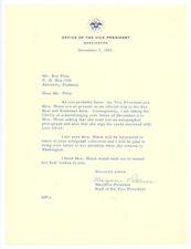 MARJORIE PETERSON signed 1953 TLS letter VICE PRESIDENT NIXON