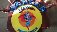 """Superhero """"Power Shield"""" Superrman,circa 1976 used; shield & 6 spinners only"""