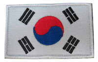 South Korea Korean National Country Flag Embroidered Hook Loop Patch
