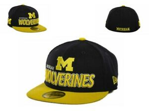 NWT New Michigan Wolverines New ERA NCAA Youth Tight 6 1/2 59Fifty Hat Cap GD