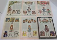 Lot of Vintage 1970s Betsy McCall Paper Dolls Magazine Pages