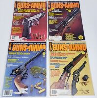 VINTAGE Guns and Ammo Magazines - Lot of 4 1980 1981