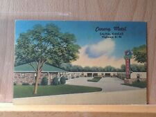 Linen post card, Canary Motel, Salina, Kansas