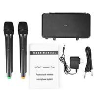 Funkmikrofon Wireless VHF Mikrofon Empfänger Karaoke Set Handmikrofon 2 Kanal
