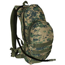 USMC Marines Woodland Camo Backpack Camelback Bladder Fits a tablet Molle Pack