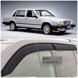 VE11984 Window Visors Vent Wide Deflectors For Volvo 740 Sd / Combi 1984-1992