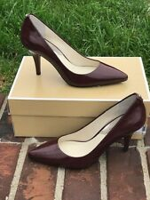 Michael Michael Kors  MK-Flex Saffiano Leather Mid Pump merlot 6 new in box