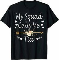 My Squad Calls Me Tia Mothers Day Gifts Mother's Day T-Shirt Cotton Trend 2021