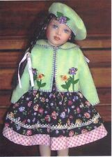 "clothes Pattern fits 16"" Helen Kish Doll dress bloomers Felt Jacket  Bert"