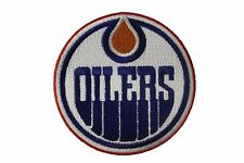 "EDMONTON OILERS NHL Hockey Logo 3"" inch round iron-on PATCH CREST BADGE"