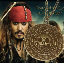 Pirates of the Caribbean - Aztec Skull Coin Pendant Necklace Jack Sparrow Fancy