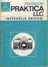 Pentacon Bedienungsanleitung Praktica LLC - Instrukcja obslugi, polnisch  #su