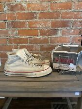 Vintage 50s Converse High Top Shoes, Blue tag Chuck Taylor All Star with box