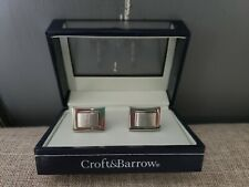 CROFT & BARROW Gift Boxed SILVER Tone CUFF LINKS