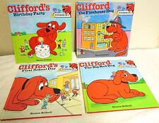 SET  OF  4  LARGE  HARDCOVER  CLIFFORD BOOKS -  EACH BOOK  CONTAINS  2  STORIES