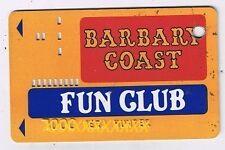 Barbary Coast Fun  Club Vintage Slot Card Holes In Card Las Vegas Nevada