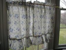 "pfaltzgraff Yorktowne 45"" Ruffled Tier Curtains,Cotton Blend,kitchen,multi-color"