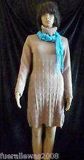 Strickkleid knitted dress mit  Cashmere in hell camel Gr 40/42 NEU