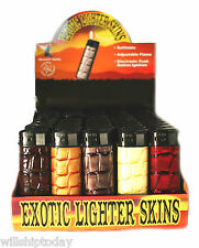 50 Exotic Western Style leather feel textured electronic lighters