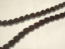 "16"" String Hematite Heart Beads : HEM02 - 10mm"