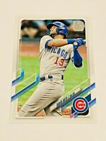 2021 Topps Baseball Base Card #4 - David Bote - Chicago Cubs
