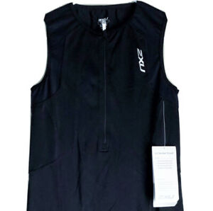 2XU Women's XL G:2 Active Trisuit 50 UV Protection Athletic Triathlon Black