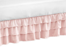Solid Color Pink Harper Shabby Chic Girls Ruffled Crib Bed Skirt Dust Ruffle