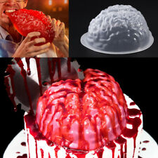 Brain / Skull Shape Plastic Chocolate Mould Halloween Scary Jelly Ice Soap Candy