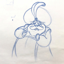 RARE : ALADDIN - Sultan - Original KEY Animation Drawing (Walt Disney, 1992)