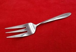 """Cold Meat Fork ~ Mooncrest by Oneida Stainless Flatware Silverware Glossy 8 3/8"""""""