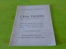 RELIGION - L'ABBE PACHINS - UN APOTRE DE L'EUCHARISTIE - CATHEDRALE DE RODEZ!!!!