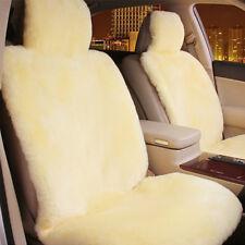 Beige Premium Quality Australian Sheep Skin Car Short Wool Front Seat Cover