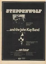Steppenwolf RIP John Kay Band Forgotten Songs LP Tour ad Time Out cutting 1972