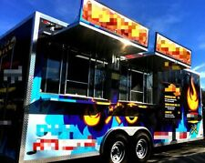 Clean 2017 9.5' x 22' Loaded Food Concession Trailer for Sale in California!