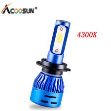 1Pcs H7 LED Car Headlight Bulbs 8000LM 4300K Fog Hi/ Lo Beam Lamp 12V blue shell