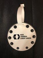 Vintage NWA Federal Credit Union Northwest Airlines Golf Bag Tag