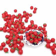 10Pcs 1:12 Resin Artificial Fake Miniature Fruit Tomato Kitchen Food Dollhouse