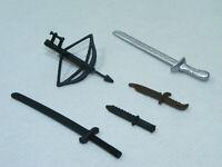 Lot de 5 accessoires & armes blanches couteaux sabres arbalète poing GI JOE G.I.