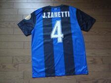 Inter Milan #4 J.Zanetti 100% Official Original Jersey L 2012/13 Good Condition