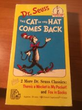 The Cat In The Hat Comes Back (VHS) Dr. Seuss...015