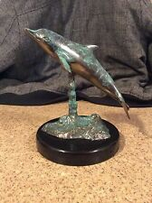 Bronze Dolphin On Black Stand