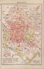 Landkarte city map 1898: Stadtplan MADRID. Spanien Hippodrom Casa del Campo